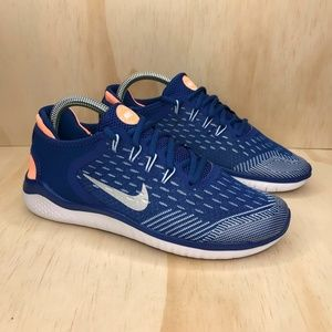 NEW Nike Free Run 2018 Gym Blue Silver